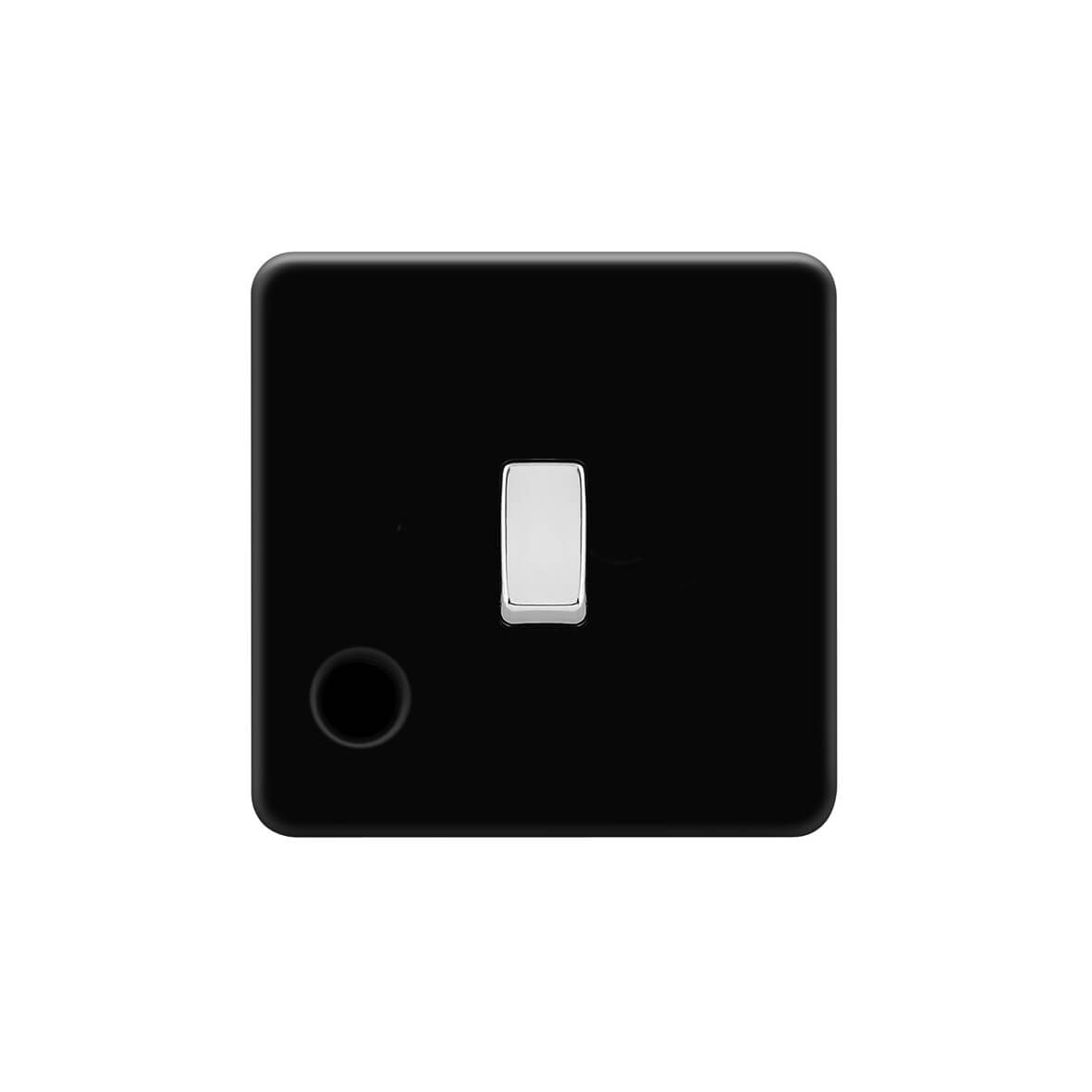 45A FLEX OUTLET FLAT PLATE WITH 3 WAY TERMINAL BLOCK BLACK NICKEL